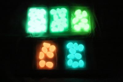 Glow in the Dark Pebbles Glowing