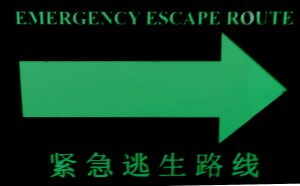 Escape Emergency Glowing