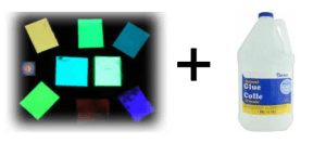 GlowPowder and Clear Glue