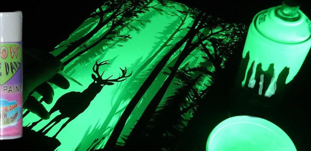 Glow in the Dark Spray Painting