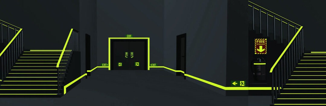 Using Glow in the Dark Products as secondary Emergency Lighting